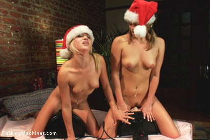 Photo number 14 from Sybian Bonus to take the Edge off your Holiday shot for Fucking Machines on Kink.com. Featuring Roxy Rox, Beretta James, Veruca James and Luna Light in hardcore BDSM & Fetish porn.