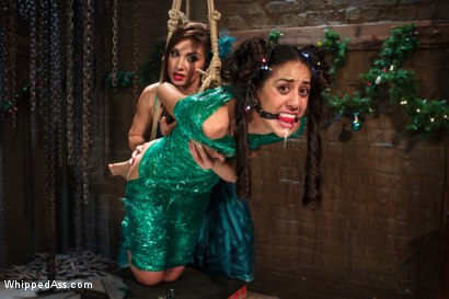 Photo number 2 from Holiday Lesbian Affair shot for Whipped Ass on Kink.com. Featuring Lea Lexis and Lyla Storm in hardcore BDSM & Fetish porn.