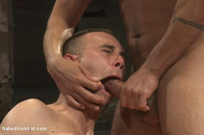 """Photo number 9 from Dominic """"The Dominator"""" Pacifico vs Kirk """"Kick-Ass"""" Cummings shot for nakedkombat on Kink.com. Featuring Kirk Cummings and Dominic Pacifico in hardcore BDSM & Fetish porn."""