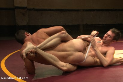 "Photo number 3 from Cameron ""The Kin-Killer-Cade"" VS Tripp ""Takedown"" Townsend shot for Naked Kombat on Kink.com. Featuring Cameron Kincade and Tripp Townsend in hardcore BDSM & Fetish porn."