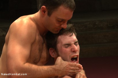 "Photo number 14 from Cameron ""The Kin-Killer-Cade"" VS Tripp ""Takedown"" Townsend shot for Naked Kombat on Kink.com. Featuring Cameron Kincade and Tripp Townsend in hardcore BDSM & Fetish porn."