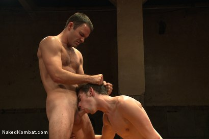 "Photo number 10 from Cameron ""The Kin-Killer-Cade"" VS Tripp ""Takedown"" Townsend shot for Naked Kombat on Kink.com. Featuring Cameron Kincade and Tripp Townsend in hardcore BDSM & Fetish porn."