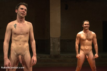 "Photo number 15 from Cameron ""The Kin-Killer-Cade"" VS Tripp ""Takedown"" Townsend shot for Naked Kombat on Kink.com. Featuring Cameron Kincade and Tripp Townsend in hardcore BDSM & Fetish porn."