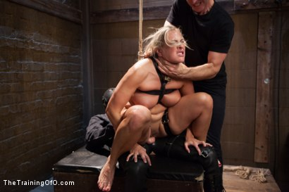 Photo number 14 from The Introduction of Porno Virgin Angel Allwood, Day One shot for The Training Of O on Kink.com. Featuring Angel Allwood and Owen Gray in hardcore BDSM & Fetish porn.