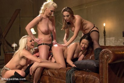 Photo number 9 from 18 year old co-ed DP'd by 3 hot lezdoms for the 1st time! shot for Whipped Ass on Kink.com. Featuring Meiko, Chanel Preston, Lorelei Lee and Cherry Torn in hardcore BDSM & Fetish porn.