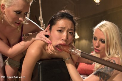 Photo number 4 from 18 year old co-ed DP'd by 3 hot lezdoms for the 1st time! shot for Whipped Ass on Kink.com. Featuring Meiko, Chanel Preston, Lorelei Lee and Cherry Torn in hardcore BDSM & Fetish porn.
