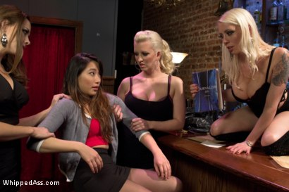 Photo number 2 from 18 year old co-ed DP'd by 3 hot lezdoms for the 1st time! shot for Whipped Ass on Kink.com. Featuring Meiko, Chanel Preston, Lorelei Lee and Cherry Torn in hardcore BDSM & Fetish porn.