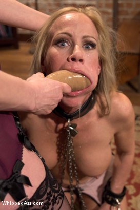 Photo number 1 from MILF Destroyed: Filthy Milfy Mommy Cunt shot for Whipped Ass on Kink.com. Featuring Maitresse Madeline Marlowe  and Simone Sonay in hardcore BDSM & Fetish porn.