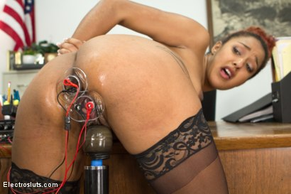Photo number 9 from The Intern shot for Electro Sluts on Kink.com. Featuring Isis Love and Daisy Ducati in hardcore BDSM & Fetish porn.