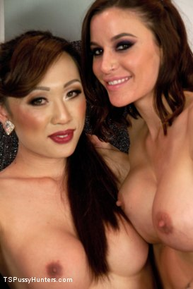 Photo number 15 from Space, The Final Frontier For Fucking - Venus Lux and Gia DiMarco shot for TS Pussy Hunters on Kink.com. Featuring Venus Lux and Gia DiMarco in hardcore BDSM & Fetish porn.