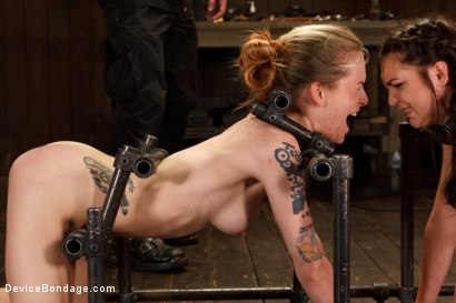 Photo number 12 from Suffering Together shot for Device Bondage on Kink.com. Featuring Holly Michaels and Jeze Belle in hardcore BDSM & Fetish porn.