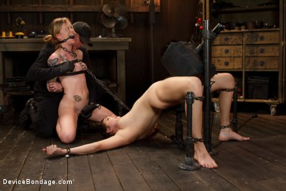 Photo number 13 from Suffering Together shot for Device Bondage on Kink.com. Featuring Holly Michaels and Jeze Belle in hardcore BDSM & Fetish porn.