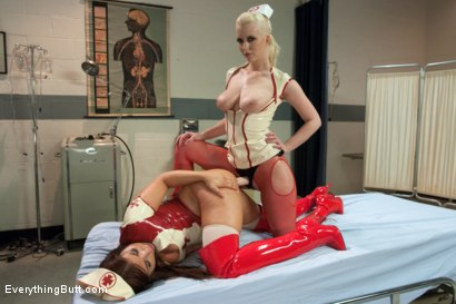 Photo number 8 from Latex Anal Nurses shot for Everything Butt on Kink.com. Featuring Mia Gold and Cherry Torn in hardcore BDSM & Fetish porn.