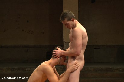 """Photo number 10 from Will """"The Punisher"""" Parks vs Conrad """"The Conqueror"""" Logun shot for Naked Kombat on Kink.com. Featuring Conrad Logun and Will Parks in hardcore BDSM & Fetish porn."""
