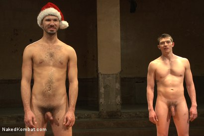 """Photo number 15 from Will """"The Punisher"""" Parks vs Conrad """"The Conqueror"""" Logun shot for Naked Kombat on Kink.com. Featuring Conrad Logun and Will Parks in hardcore BDSM & Fetish porn."""
