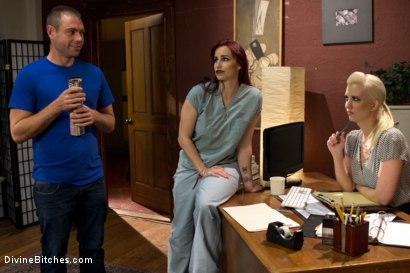 Photo number 1 from The Sperm Bank shot for Divine Bitches on Kink.com. Featuring Cherry Torn, Orlando, John Jammen and Bella Rossi in hardcore BDSM & Fetish porn.