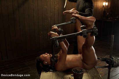 Photo number 12 from Ebony Slut is Tormented and Machine Fucked!! shot for Device Bondage on Kink.com. Featuring Chanell Heart in hardcore BDSM & Fetish porn.