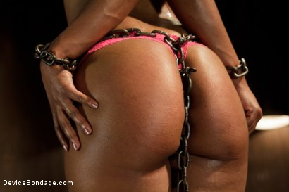 Photo number 3 from Ebony Slut is Tormented and Machine Fucked!! shot for Device Bondage on Kink.com. Featuring Chanell Heart in hardcore BDSM & Fetish porn.