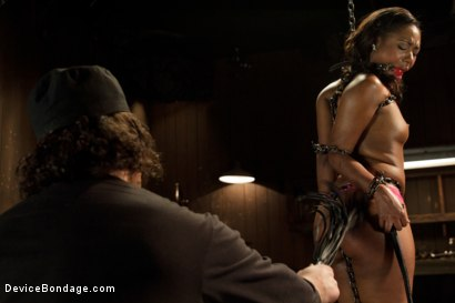 Photo number 4 from Ebony Slut is Tormented and Machine Fucked!! shot for Device Bondage on Kink.com. Featuring Chanell Heart in hardcore BDSM & Fetish porn.