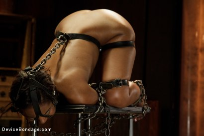 Photo number 5 from Ebony Slut is Tormented and Machine Fucked!! shot for Device Bondage on Kink.com. Featuring Chanell Heart in hardcore BDSM & Fetish porn.