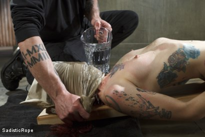 Photo number 4 from FISTING, WATER BOARDING, EXTREME TORMENT, AND BRUTAL BONDAGE!!! shot for Sadistic Rope on Kink.com. Featuring Krysta Kaos in hardcore BDSM & Fetish porn.