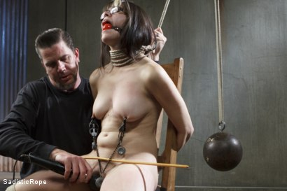 Photo number 3 from First timer gets a lesson in suffering and bondage. shot for Sadistic Rope on Kink.com. Featuring Katt Anomia in hardcore BDSM & Fetish porn.
