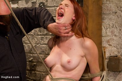 Photo number 14 from Redhead Newcomer Taken by Sergeant Major shot for Hogtied on Kink.com. Featuring Sgt. Major and Ashley Lane in hardcore BDSM & Fetish porn.