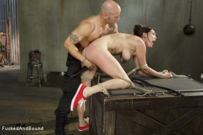 Photo number 8 from Fuck, is all you get, bitch!! shot for Fucked and Bound on Kink.com. Featuring Holly Michaels and Derrick Pierce in hardcore BDSM & Fetish porn.