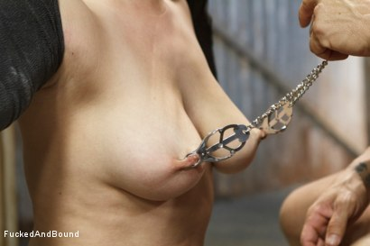 Photo number 5 from Fuck, is all you get, bitch!! shot for Fucked and Bound on Kink.com. Featuring Holly Michaels and Derrick Pierce in hardcore BDSM & Fetish porn.