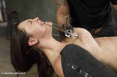 Photo number 4 from Fuck, is all you get, bitch!! shot for Fucked and Bound on Kink.com. Featuring Holly Michaels and Derrick Pierce in hardcore BDSM & Fetish porn.