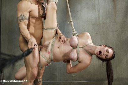 Photo number 10 from Fuck, is all you get, bitch!! shot for Fucked and Bound on Kink.com. Featuring Holly Michaels and Derrick Pierce in hardcore BDSM & Fetish porn.