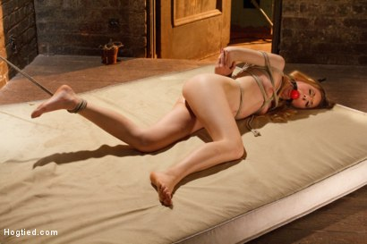 Photo number 5 from TAKEN - Hot Blonde Nymph Made to Submit shot for Hogtied on Kink.com. Featuring Sgt. Major and Emma Haize in hardcore BDSM & Fetish porn.
