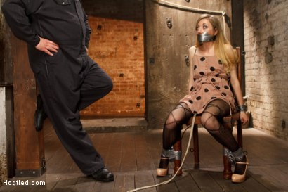 Photo number 1 from TAKEN - Hot Blonde Nymph Made to Submit shot for Hogtied on Kink.com. Featuring Sgt. Major and Emma Haize in hardcore BDSM & Fetish porn.