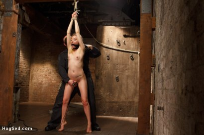 Photo number 10 from TAKEN - Hot Blonde Nymph Made to Submit shot for Hogtied on Kink.com. Featuring Sgt. Major and Emma Haize in hardcore BDSM & Fetish porn.