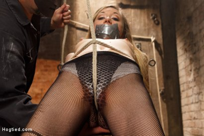 Photo number 3 from TAKEN - Hot Blonde Nymph Made to Submit shot for Hogtied on Kink.com. Featuring Sgt. Major and Emma Haize in hardcore BDSM & Fetish porn.