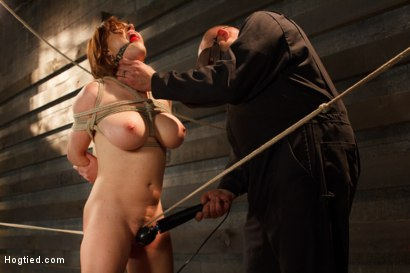 Photo number 4 from Big Titted Torment shot for Hogtied on Kink.com. Featuring Sgt. Major and Krissy Lynn in hardcore BDSM & Fetish porn.