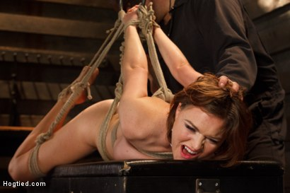 Photo number 8 from Big Titted Torment shot for Hogtied on Kink.com. Featuring Sgt. Major and Krissy Lynn in hardcore BDSM & Fetish porn.