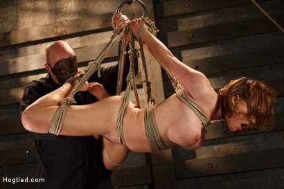 Photo number 9 from Big Titted Torment shot for Hogtied on Kink.com. Featuring Sgt. Major and Krissy Lynn in hardcore BDSM & Fetish porn.