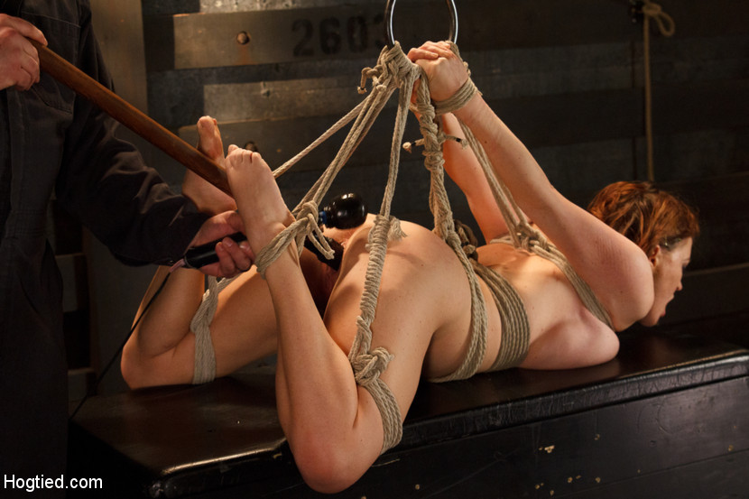 up suspended Naked women tied and