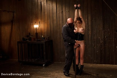 Photo number 8 from Menacing Sadist  shot for Device Bondage on Kink.com. Featuring Sgt. Major and Krissy Lynn in hardcore BDSM & Fetish porn.
