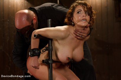 Photo number 3 from Menacing Sadist  shot for Device Bondage on Kink.com. Featuring Sgt. Major and Krissy Lynn in hardcore BDSM & Fetish porn.