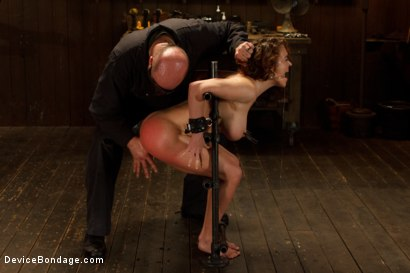 Photo number 5 from Menacing Sadist  shot for Device Bondage on Kink.com. Featuring Sgt. Major and Krissy Lynn in hardcore BDSM & Fetish porn.