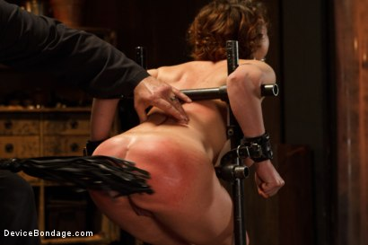 Photo number 6 from Menacing Sadist  shot for Device Bondage on Kink.com. Featuring Sgt. Major and Krissy Lynn in hardcore BDSM & Fetish porn.