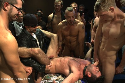Photo number 11 from FUCK THE DJ!!! shot for Bound in Public on Kink.com. Featuring Billy Santoro, Christian Wilde and Jessie Colter in hardcore BDSM & Fetish porn.