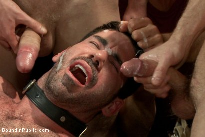 Photo number 14 from FUCK THE DJ!!! shot for Bound in Public on Kink.com. Featuring Billy Santoro, Christian Wilde and Jessie Colter in hardcore BDSM & Fetish porn.