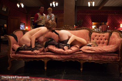 Photo number 3 from Krissy Lynn's Big Round Ass Fucked and Gives Newbie Slut Porno Lessons shot for The Upper Floor on Kink.com. Featuring Mickey Mod, Krissy Lynn, Lea Lexis, Owen Gray, Mona Wales and Sahara Rain in hardcore BDSM & Fetish porn.