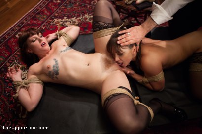 Photo number 2 from Lea Lexis Anal Fucked by Giant Cock and Newbie Slut Gets Porn Lessons shot for The Upper Floor on Kink.com. Featuring Mickey Mod, Krissy Lynn, Lea Lexis, Owen Gray, Mona Wales and Sahara Rain in hardcore BDSM & Fetish porn.