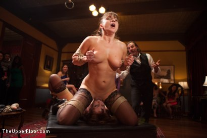 Photo number 4 from Lea Lexis Anal Fucked by Giant Cock and Newbie Slut Gets Porn Lessons shot for The Upper Floor on Kink.com. Featuring Mickey Mod, Krissy Lynn, Lea Lexis, Owen Gray, Mona Wales and Sahara Rain in hardcore BDSM & Fetish porn.