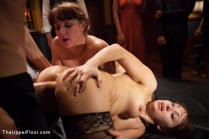 Photo number 8 from Lea Lexis Anal Fucked by Giant Cock and Newbie Slut Gets Porn Lessons shot for The Upper Floor on Kink.com. Featuring Mickey Mod, Krissy Lynn, Lea Lexis, Owen Gray, Mona Wales and Sahara Rain in hardcore BDSM & Fetish porn.