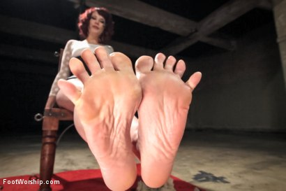 Photo number 4 from POV foot tease masturbation instruction, solo foot masturbation, foot pissing & favorites! shot for Foot Worship on Kink.com. Featuring Maitresse Madeline Marlowe in hardcore BDSM & Fetish porn.